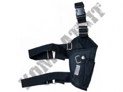 Swiss Arms Right Leg Gun Holster for Airsoft Air Pistols & BB Handguns Black Tactical